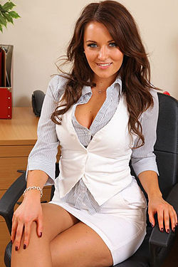 Sexy Secretary On Hard Work