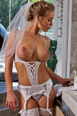 Stupendous Bride In Stockings